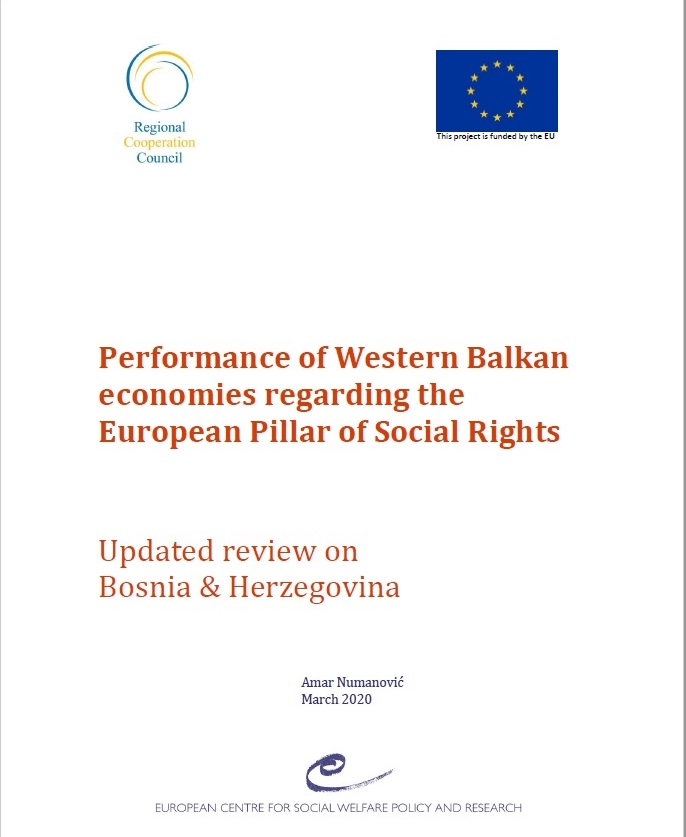 Performance of Western Balkan economies regarding the European Pillar of Social Rights: Updated review on 