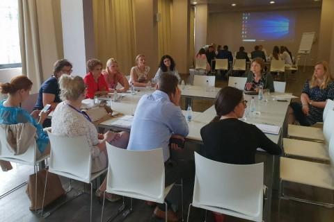 Group work at RCC ESAP's Regional peer-review workshop on youth employment in Herceg Novi, Montenegro on 30-31 May 2018 (Photo: RCC ESAP/Sanda Topic)