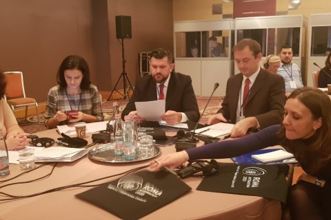 ESAP team at a regional conference on innovative approaches to employment of Roma, jointly organized with RCC's Roma Integration 2020 project and Employment and Social Affairs Platform, and Roma Education Fund, on 10 December 2018 in Budapest. (Photo: RCC/Alma Arslanagic-Pozder)
