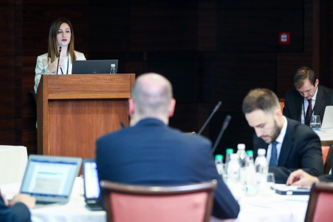Maja Handziska Trendafilova, Head RCC's Programme Department, opening the regional workshop on undeclared work in the Western Balkans, organised by ESAP in Sarajevo on 15 October 2019 (Photo: RCC/Armin Durgut)