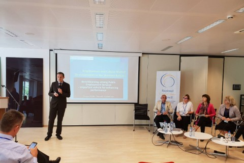 RCC's ESAP Project presented employment and labour market trends and developments in the Western Balkans, in Brussels, 20 June 2018. (Photo: RCC ESAP/Sanda Topic)